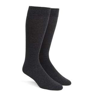 Solid Charcoal Dress Socks