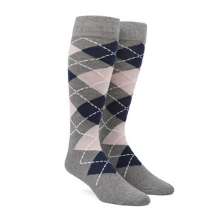 Argyle Blush Pink Dress Socks