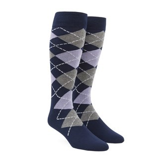 Argyle Lilac Dress Socks