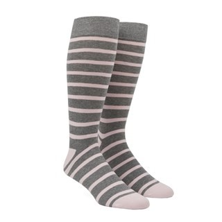 Trad Stripe Blush Pink Dress Socks