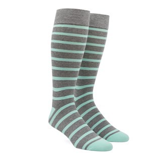 Trad Stripe Mint Dress Socks