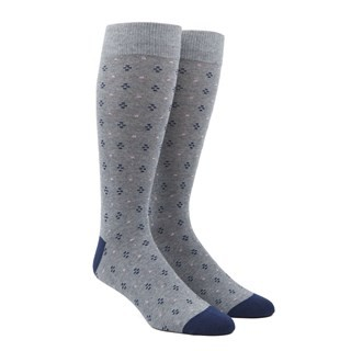 Geo Key Grey Dress Socks