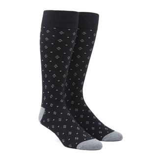 Geo Key Black Dress Socks
