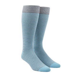 Thin Stripes Aqua Dress Socks
