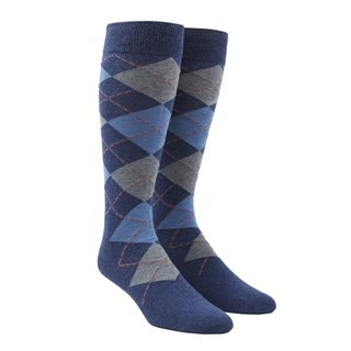 Argyle Light Blue Dress Socks