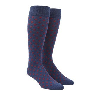 Circuit Dots Red Dress Socks