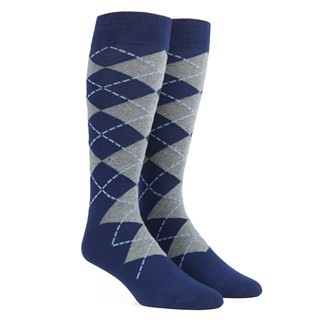 New Argyle Navy Dress Socks
