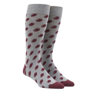 Football Burgundy Dress Socks