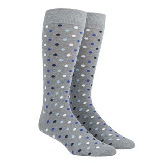 Spree Dots Royal Blue Dress Socks