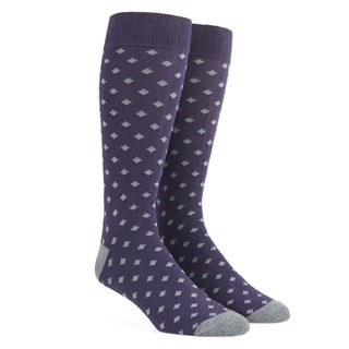 Diamonds Eggplant Dress Socks