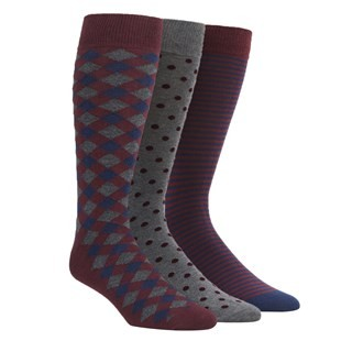 The Burgundy Sock Pack Dress Socks