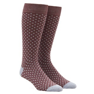 Pindot Marsala Dress Socks
