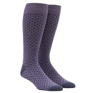 Pindot Lavender Dress Socks