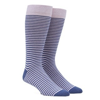 Thin Stripes Pink Dress Socks