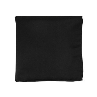 Solid Twill Black Pocket Square