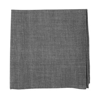 Classic Chambray Soft Grey Pocket Square