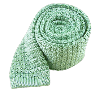 Textured Solid Knit Mint Tie