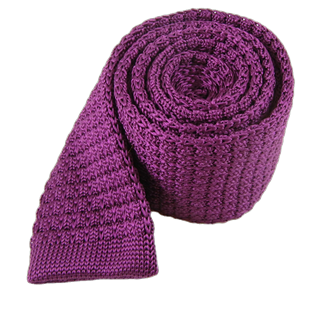 Textured Solid Knit (Fs) Plum Tie