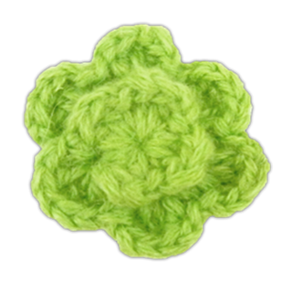 Apple Colored Lapel Flower (Fs)