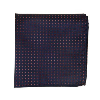 Mini Dots Matte Navy Pocket Square