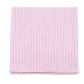 Seersucker Pink Pocket Square
