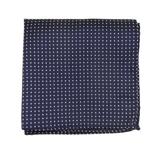 Pindot Navy Pocket Square