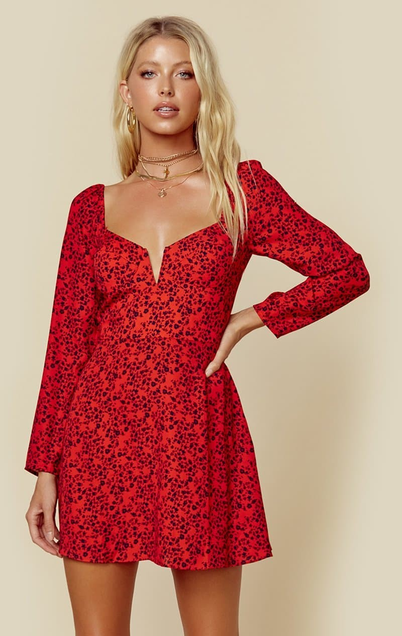 RISKY RED MINI FLORAL