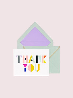 geo letters thank you notecard set