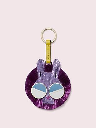 spademals raffia money bunny dangle keychain