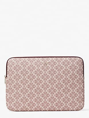 spade flower coated canvas universal laptop sleeve