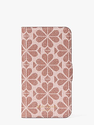 spade flower coated canvas iphone 11 pro magnetic wrap folio case