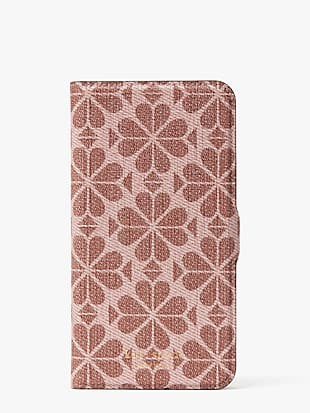 spade flower coated canvas iphone 11 pro max magnetic wrap folio case