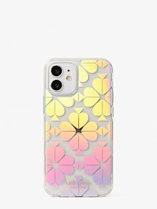 spade flower iridescent iphone 12 mini case