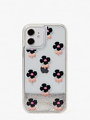 block floral iphone 12/12 pro case