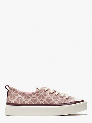 kaia spade flower coated canvas sneakers