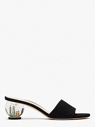 polished slide sandals
