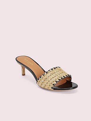 seberg raffia slide sandals