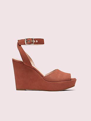 key lime suede wedge sandals