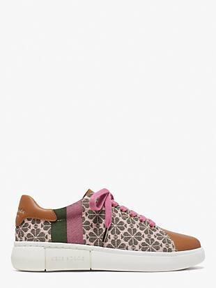 spade flower jacquard keswick sneakers