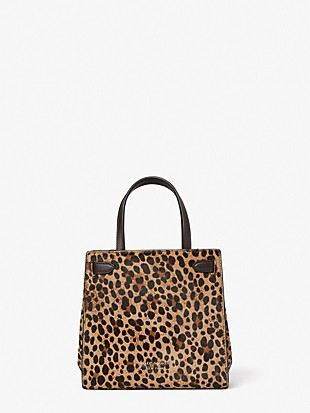 lane leopard calf hair small satchel