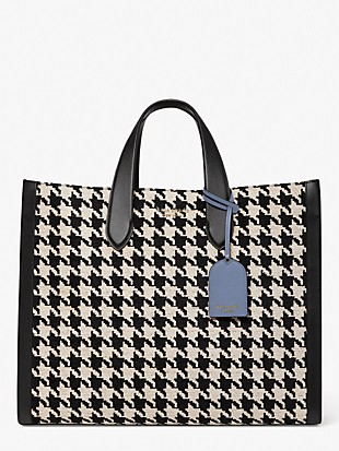 manhattan houndstooth large tote