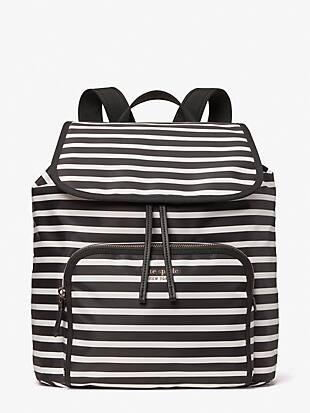 the little better sam stripe medium backpack