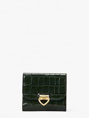 lovitt croc-embossed bifold flap wallet