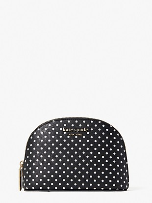 spencer metallic dot small dome cosmetic case