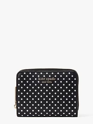 spencer metallic dot small compact wallet