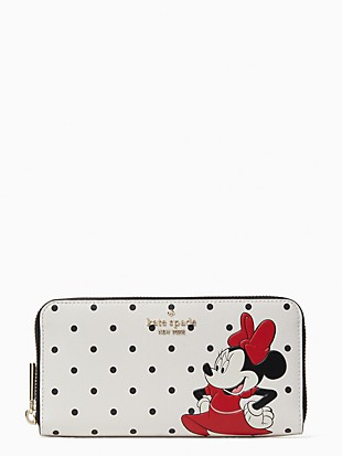 disney x kate spade new york other minnie mouse large continental wallet