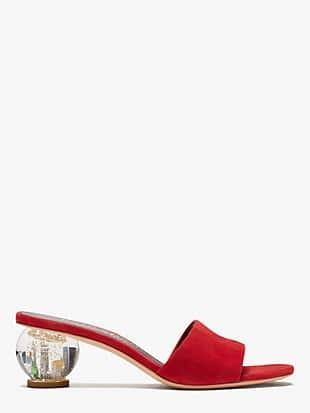 polished slide sandals