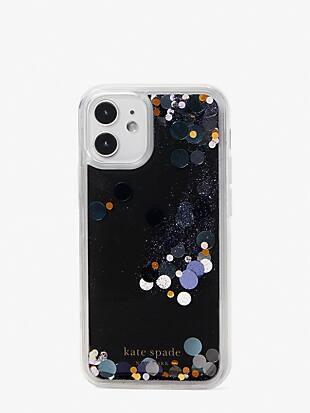 liquid glitter confetti iphone 12 mini case