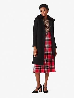 wool-blend bouclé broadway coat