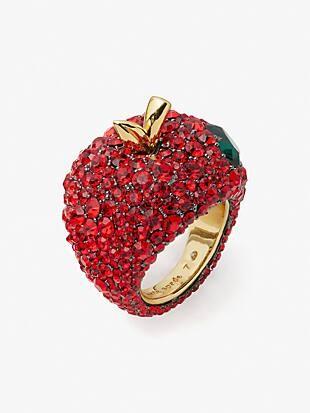 dashing beauty apple statement ring